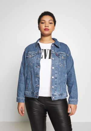 BOYFRIEND TRUCKER - Jeansjakke - light-blue denim