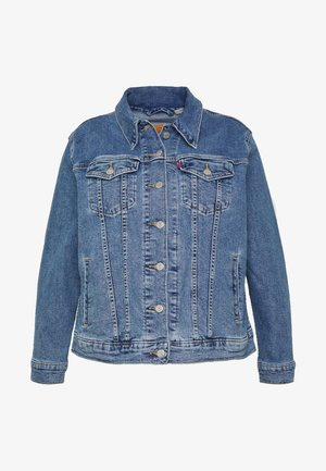 BOYFRIEND TRUCKER - Jeansjacke - light-blue denim