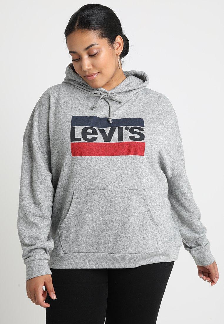 Levi's® Plus - GRAPHIC HOODIE - Hættetrøjer - smokestack heather