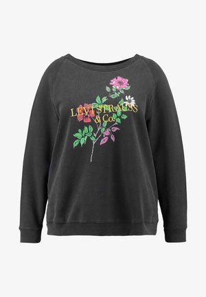 RELAXED GRAPHIC CREW - Sweater - pl corporate logo floral crew meteorite