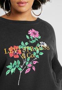 Levi's® Plus - RELAXED GRAPHIC CREW - Sweatshirt - pl corporate logo floral crew meteorite - 5