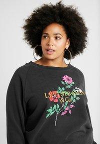 Levi's® Plus - RELAXED GRAPHIC CREW - Sweatshirt - pl corporate logo floral crew meteorite - 3