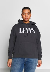 Levi's® Plus - GRAPHIC HOODIE - Hoodie - forged iron - 0