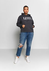 Levi's® Plus - GRAPHIC HOODIE - Hoodie - forged iron - 1