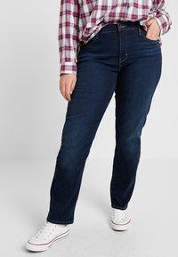 Levi's® Plus - SHAPING - Jeans Straight Leg - dark horse - 0