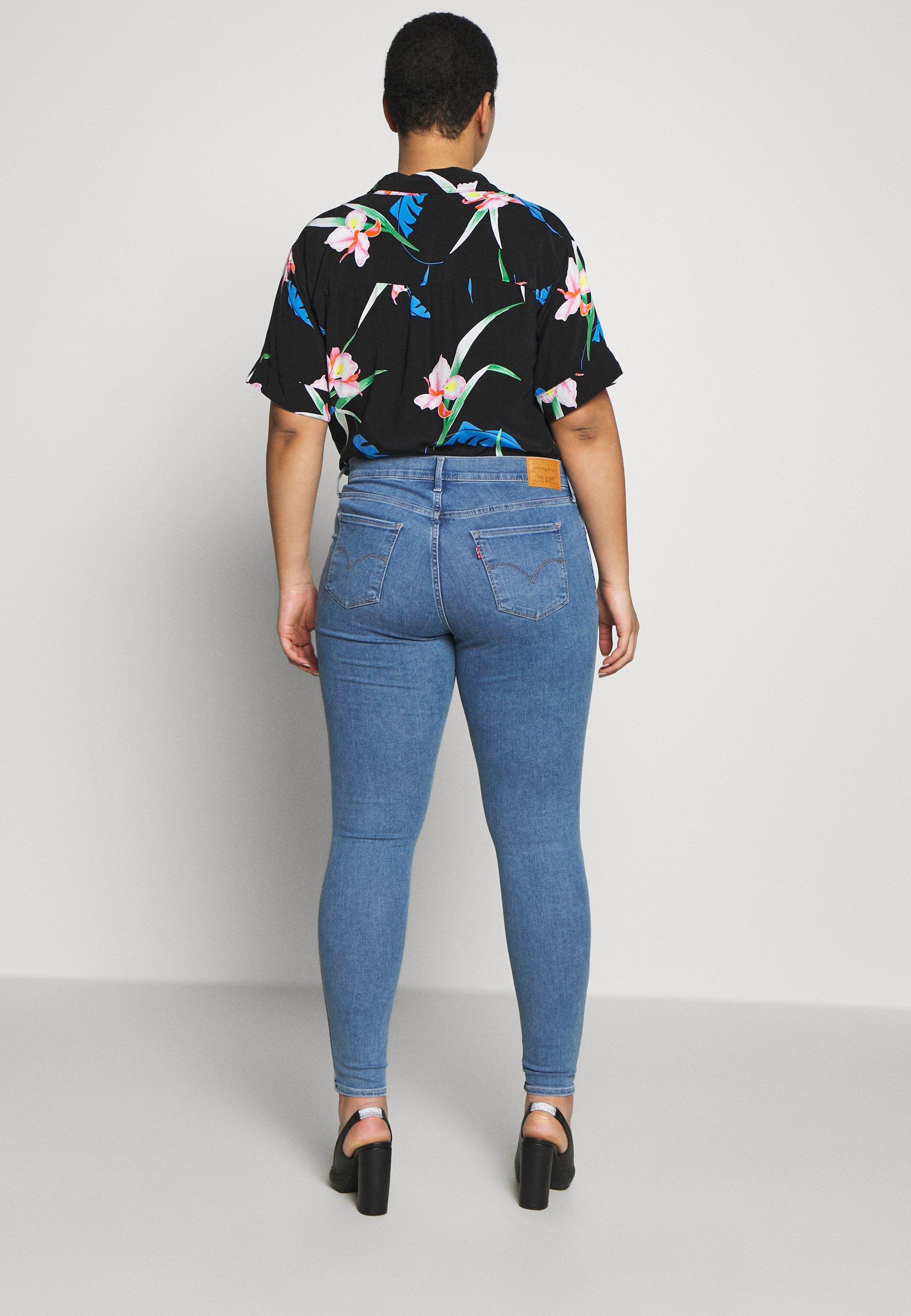 Levi's® Plus Jeans Skinny Fit - Light Blue Denim