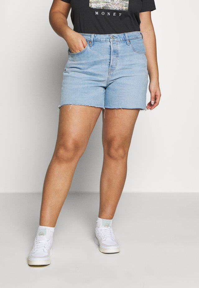 PL 501® ORIGINAL SHORT - Jeansshorts - light-blue denim