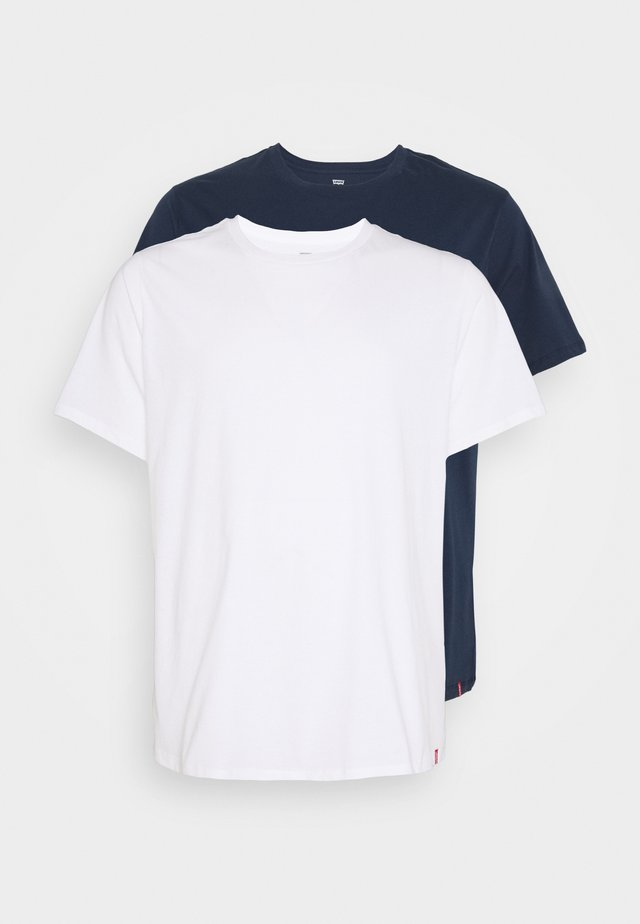 BIG TEE 2 PACK  - T-shirt basic - white/dress blues