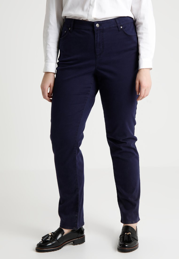 Lauren Ralph Lauren Woman - WASHED PANT - Trousers - navy