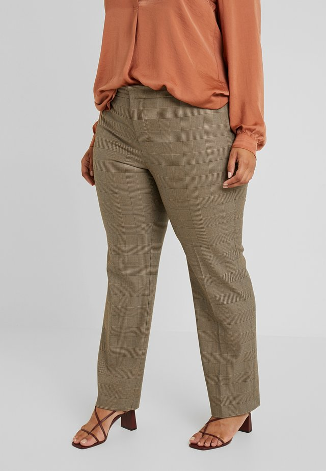 QUARTILLA-STRAIGHT-PANT - Stoffhose - brown/tan multi