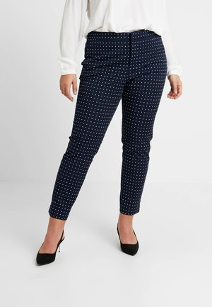 LYCETTE PANT - Stoffhose - navy/white