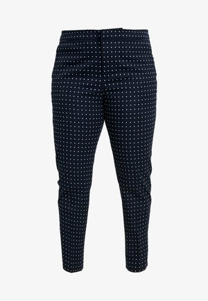 LYCETTE PANT - Pantalones - navy/white