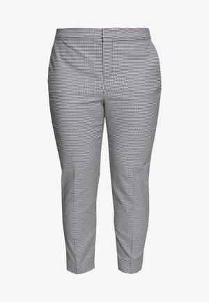LYCETTE SLIM LEG PANT - Pantalon classique - black/silk white
