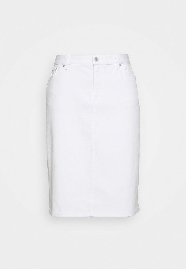 DANIELA STRAIGHT SKIRT - Pencil skirt - white