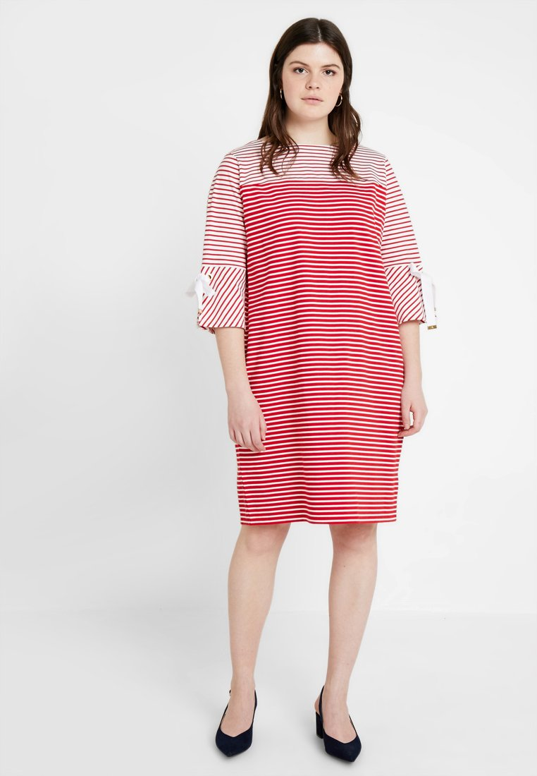 Lauren Ralph Lauren Woman - THARIANA SLEEVE CASUAL DRESS - Jersey dress - lipstick red