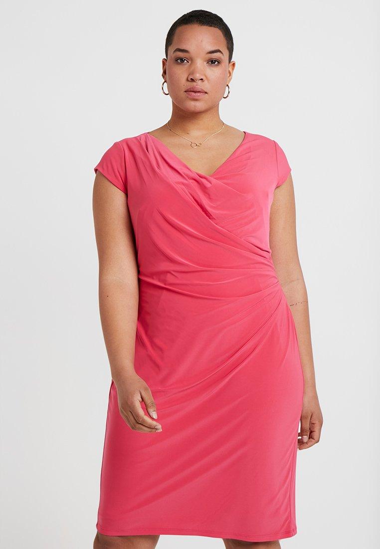 Lauren Ralph Lauren Woman - BRANDIE CAP SLEEVE DAY DRESS - Etuikleid - starfruit