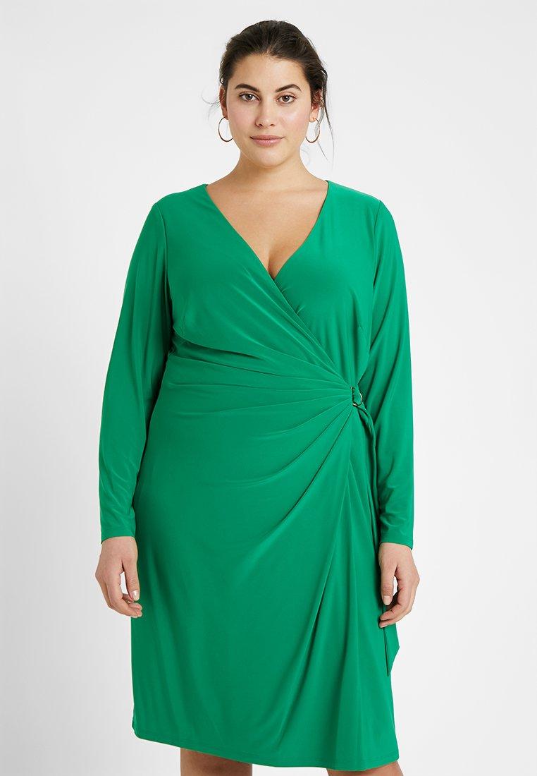 Lauren Ralph Lauren Woman - CASONDRA LONG SLEEVE DAY DRESS - Jersey dress - cambridge green