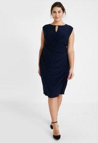 Lauren Ralph Lauren Woman - ELKANA CAP SLEEVE DAY DRESS - Shift dress - lighthouse navy - 2