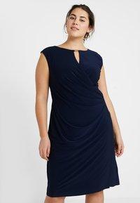 Lauren Ralph Lauren Woman - ELKANA CAP SLEEVE DAY DRESS - Shift dress - lighthouse navy - 0