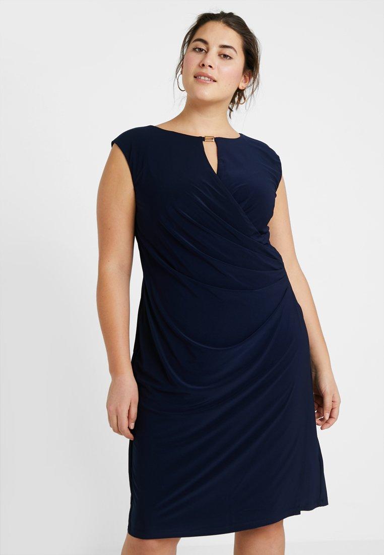 Lauren Ralph Lauren Woman - ELKANA CAP SLEEVE DAY DRESS - Shift dress - lighthouse navy