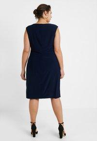 Lauren Ralph Lauren Woman - ELKANA CAP SLEEVE DAY DRESS - Shift dress - lighthouse navy - 3