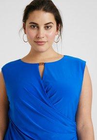 Lauren Ralph Lauren Woman - ELKANA CAP SLEEVE DAY DRESS - Shift dress - portuguese blue - 3