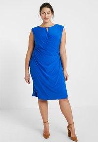 Lauren Ralph Lauren Woman - ELKANA CAP SLEEVE DAY DRESS - Shift dress - portuguese blue - 1