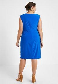Lauren Ralph Lauren Woman - ELKANA CAP SLEEVE DAY DRESS - Shift dress - portuguese blue - 2