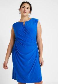 Lauren Ralph Lauren Woman - ELKANA CAP SLEEVE DAY DRESS - Shift dress - portuguese blue - 0