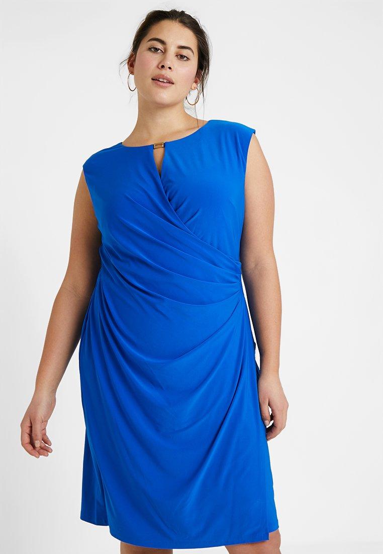 Lauren Ralph Lauren Woman - ELKANA CAP SLEEVE DAY DRESS - Shift dress - portuguese blue