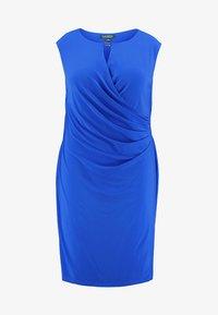 Lauren Ralph Lauren Woman - ELKANA CAP SLEEVE DAY DRESS - Shift dress - portuguese blue - 4