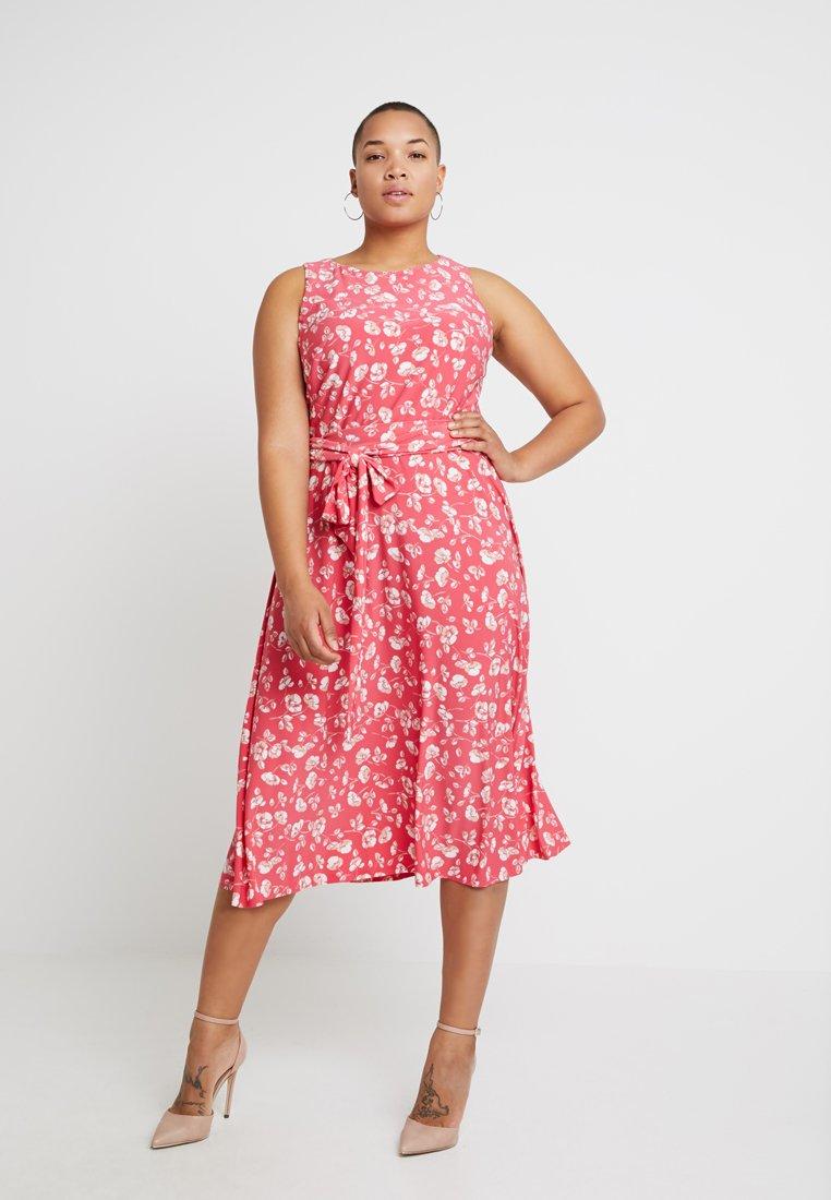 Lauren Ralph Lauren Woman - FELIA SLEEVELESS DAY DRESS - Day dress - starfruit/peach