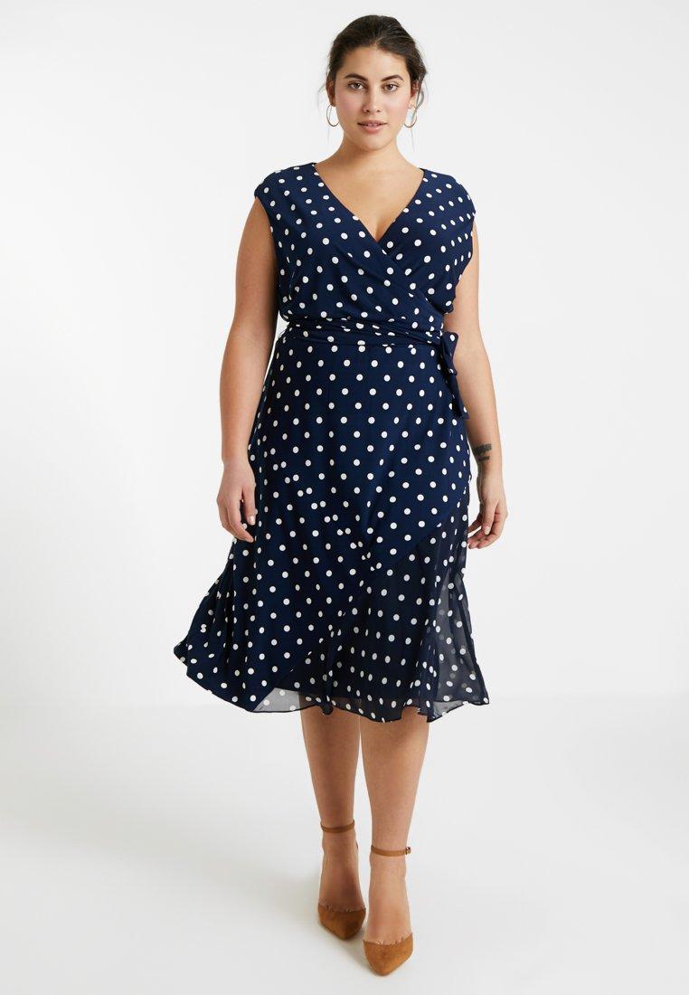 Lauren Ralph Lauren Woman - SLEEVE DAY DRESS - Jersey dress - lighthouse navy/colonial
