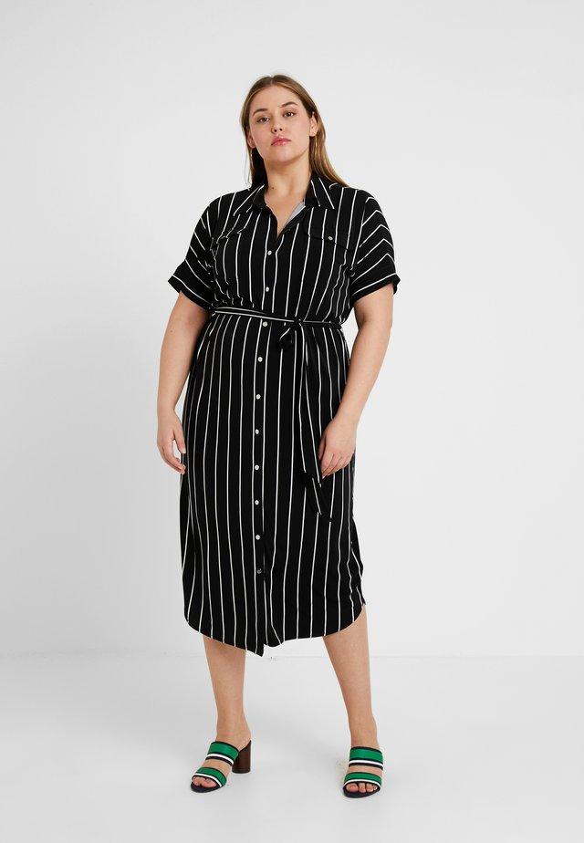 JAYWON CASUAL DRESS - Jerseyjurk - polo black/white