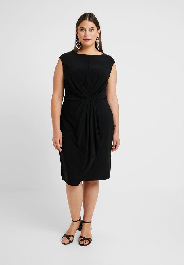 CAP SLEEVE DAY DRESS - Žerzejové šaty - black