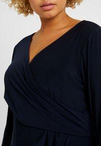 Lauren Ralph Lauren Woman - CLEORA LONG SLEEVE DAY DRESS - Vestido de tubo - lighthouse navy - 4