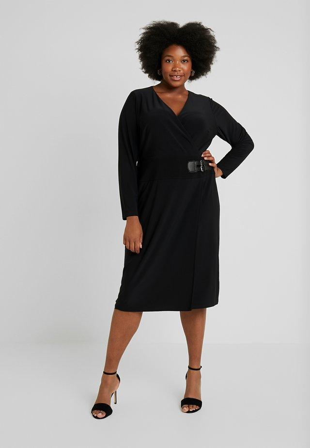 NETTIE LONG SLEEVE DAY DRESS - Etui-jurk - black