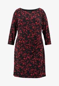 Lauren Ralph Lauren Woman - VICTORINA 3/4 SLEEVE DAY DRESS - Robe en jersey - black/scarlet red - 4