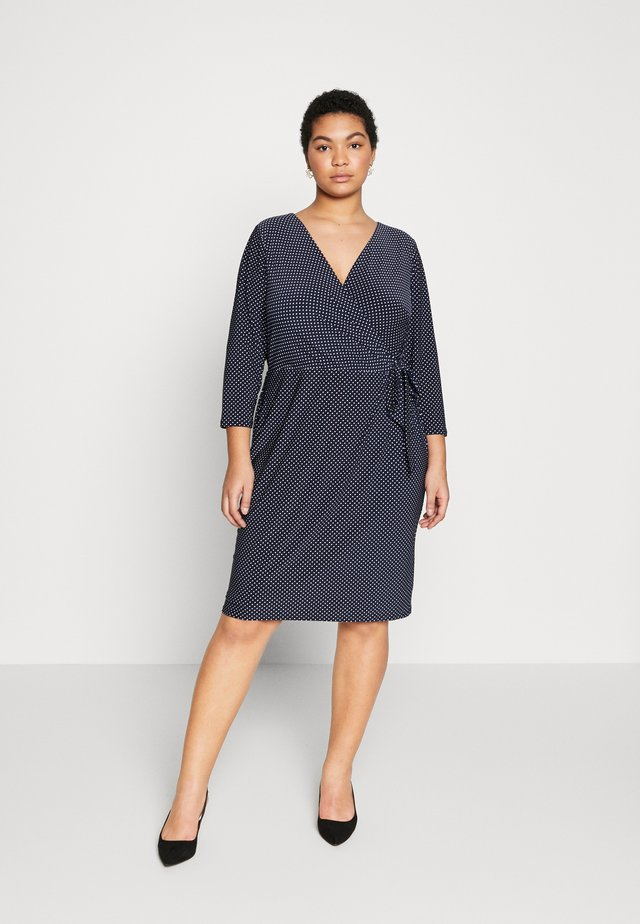 CALEB SLEEVE DAY DRESS - Vapaa-ajan mekko - lighthouse navy