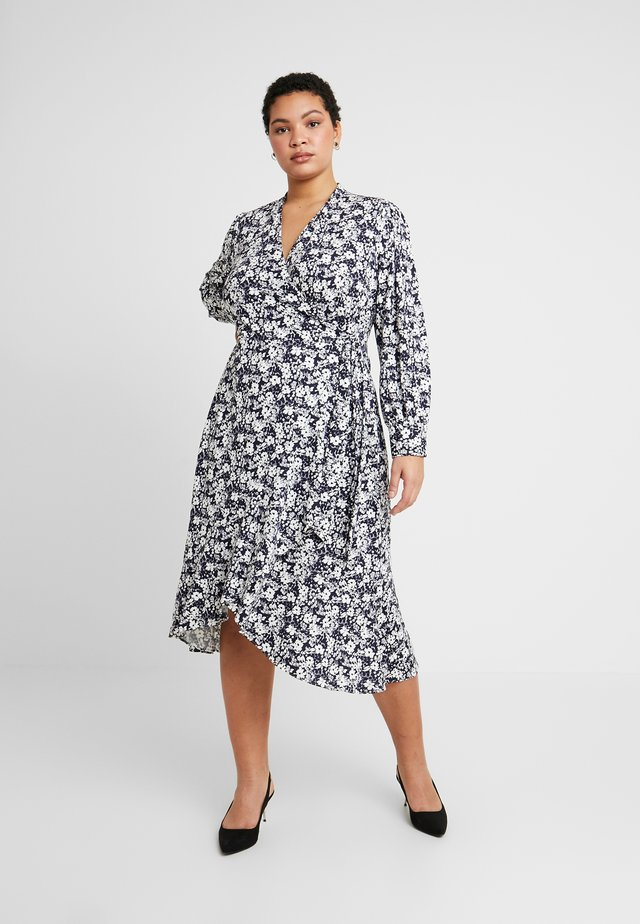 URANYA LONG SLEEVE CASUAL DRESS - Trikoomekko - navy/pale cream
