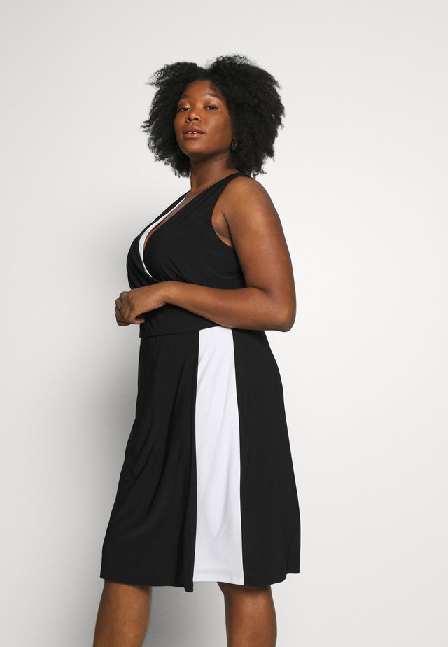 MARIBELLA-SLEEVELESS-DAY DRESS - Kotelomekko - black/lauren white
