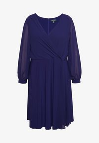 Lauren Ralph Lauren Woman - COOPER LONG SLEEVE DAY DRESS - Kotelomekko - cannes blue - 3