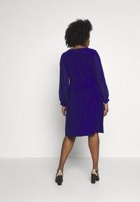 Lauren Ralph Lauren Woman - COOPER LONG SLEEVE DAY DRESS - Kotelomekko - cannes blue - 2