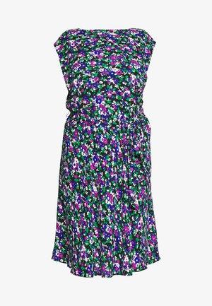 CAP SLEEVE CASUAL DRESS - Denní šaty - black multi