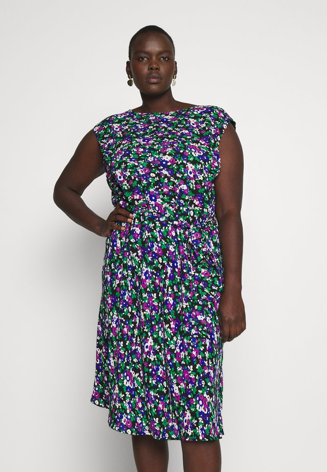 CAP SLEEVE CASUAL DRESS - Vapaa-ajan mekko - black multi