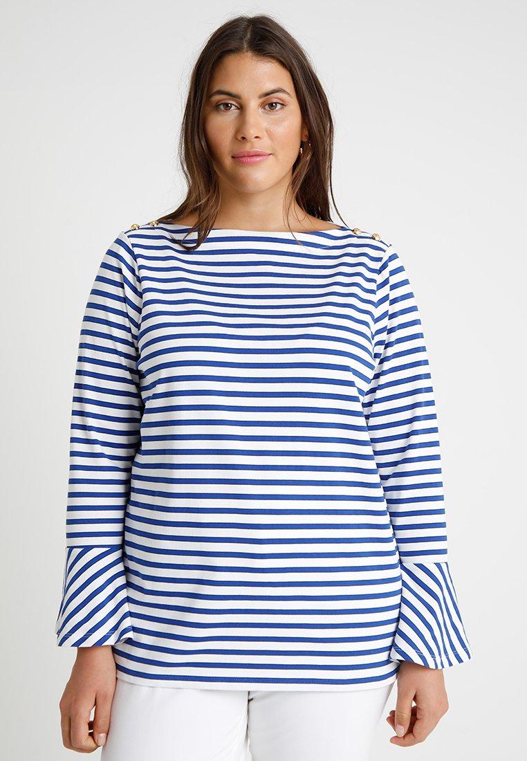 Lauren Ralph Lauren Woman - PLAIT - Long sleeved top - blue multi