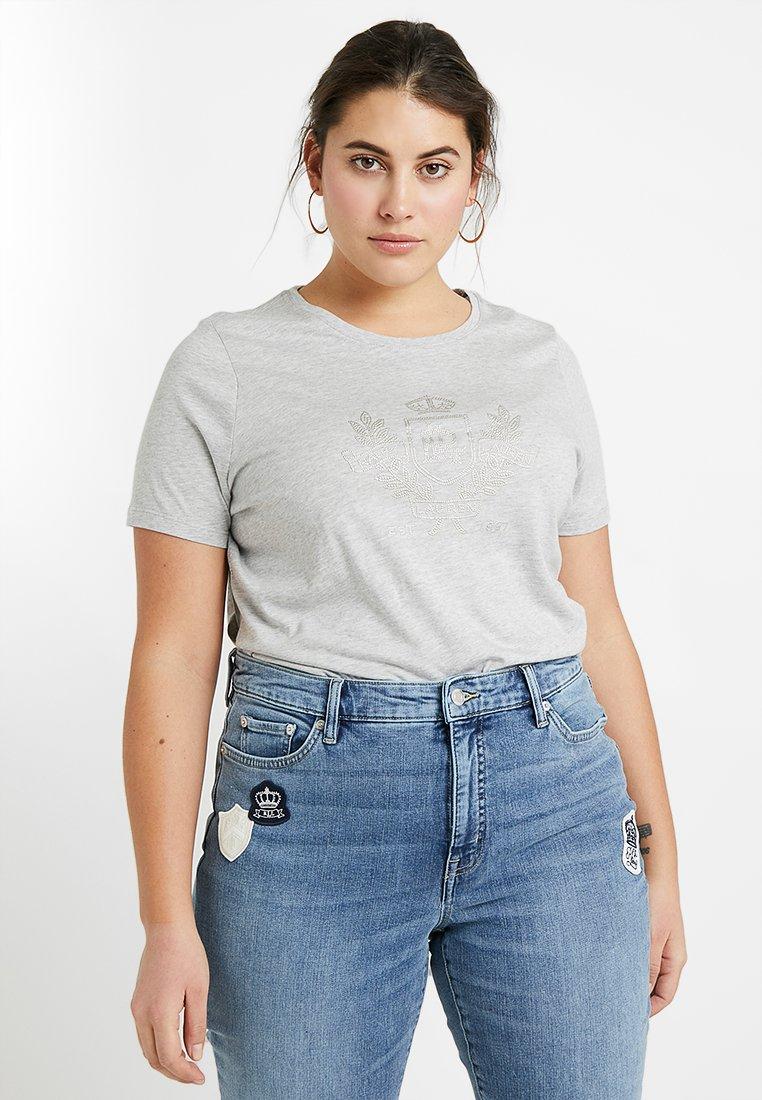 Lauren Ralph Lauren Woman - KATLIN SHORT SLEEVE - Print T-shirt - pearl grey heather