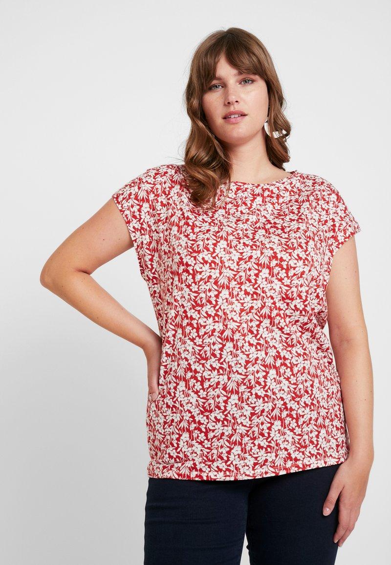 Lauren Ralph Lauren Woman - GRIETA SHORT SLEEVE - Print T-shirt - canyon red/mascarpone cream