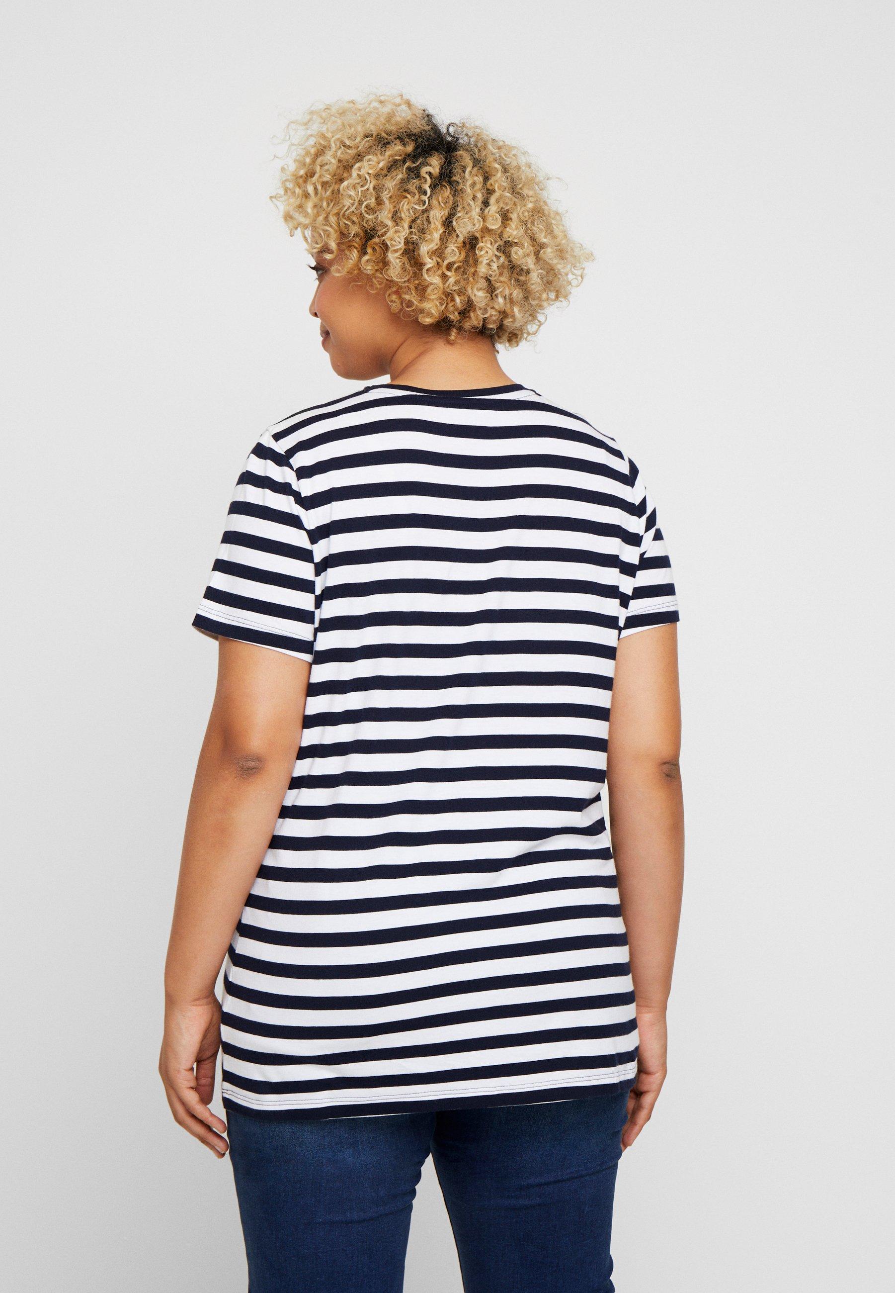 Ralph Navy white Woman Lauren KatlinT Imprimé shirt OZPikTwuX
