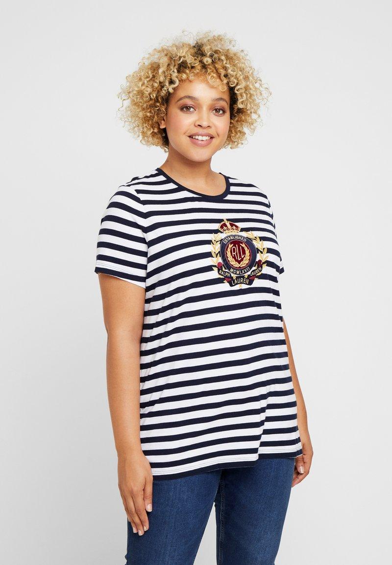 Lauren Ralph Lauren Woman - KATLIN - T-Shirt print - navy/white
